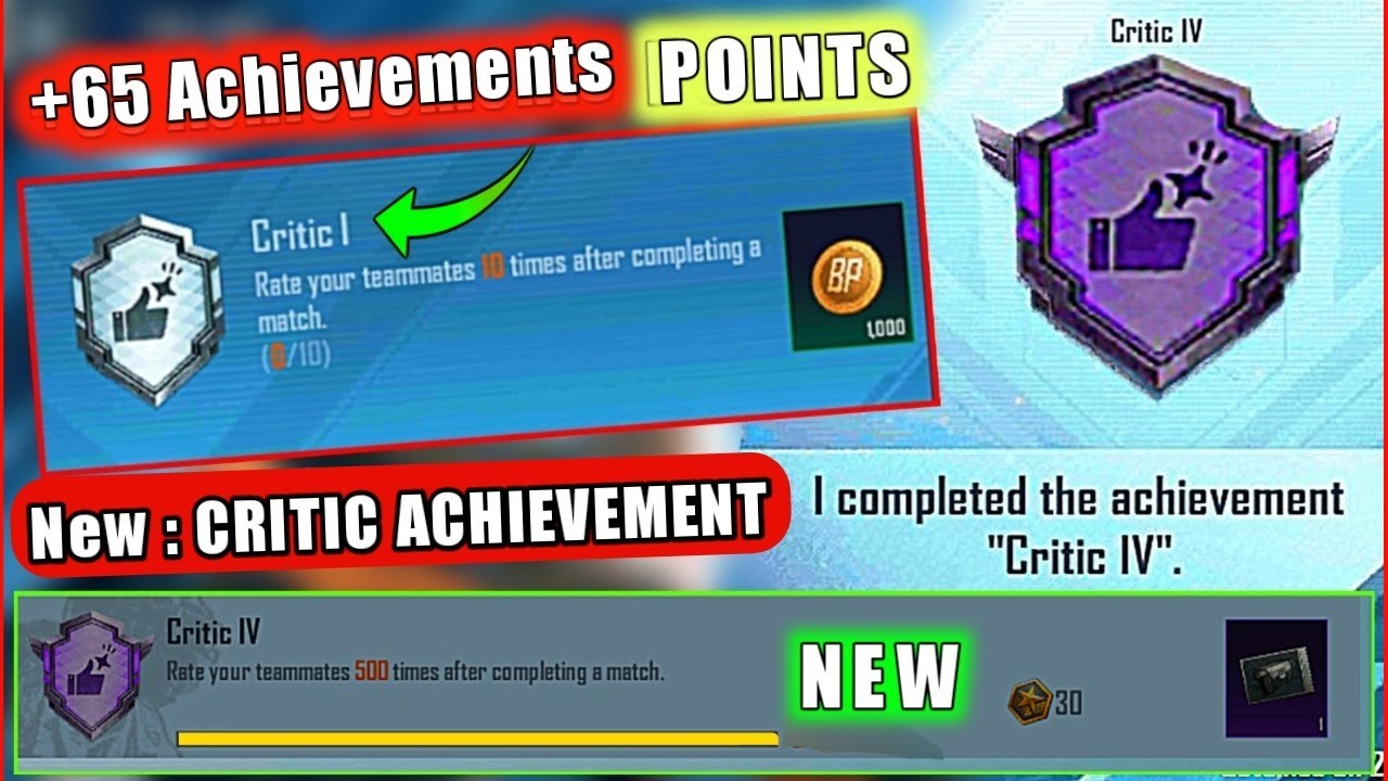 Download Easily Complete (CRITIC ACHIEVEMENT) IN PUBG MOBILE   Rate your teammates 500 times after completing