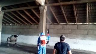 Противопожарная обработка деревянных конструкций.(, 2016-08-16T13:23:15.000Z)