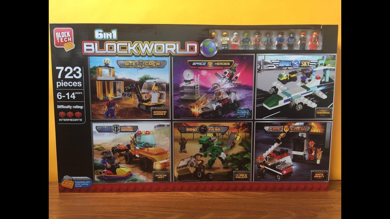 Juguete Bloques Dinosaurio | Dino Park Blocks Kidsplace Town - YouTube