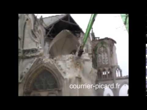 Eglise St-Jacques d'Abbeville détruite en juin 2013
