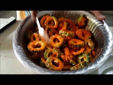 How to Make Bitter gourd FRY Healthy Food Home Made STREET FOOD  Recipe