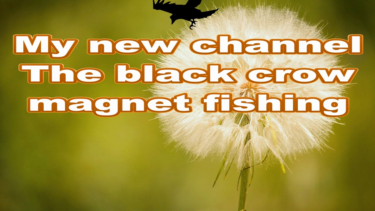 I have a new channel.  Magnet fishing, The black crow