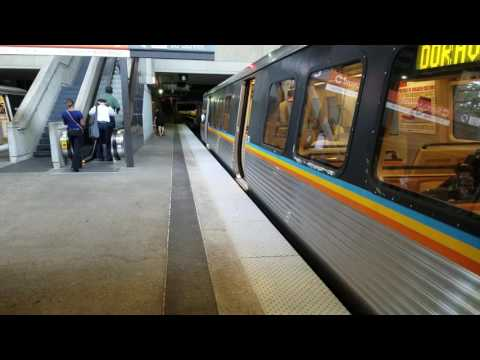 MARTA Train Action at Lindbergh Station Gold Line Doraville Train and  a Red Line Southbound Train!!