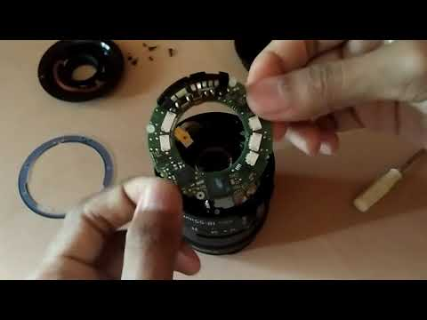 disassembly clean fungus Canon kit lens 18-55mm is