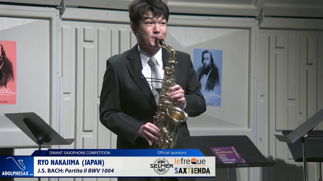 Ryo Nakajima (Japan) - Partita II BWV 1004 by J.S.Bach (Dinant 2019)