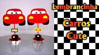 Lembrancinhas Centro De Mesa Carros Cars Disney Mcqueen Cute