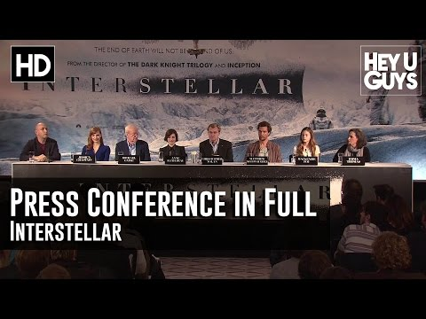 Interstellar Press Conference in Full - Christopher Nolan, M