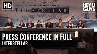 Interstellar Press Conference In Full - Christopher Nolan, Matthew McConaghey, Anne Hathaway