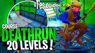 Qui sera le plus rapide sur ce 20 Levels Deathrun avec la Team Croûton sur Fortnite Créatif !
