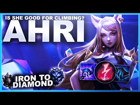 IS AHRI GOOD FOR CLIMBING SOLOQ? - Iron to Diamond | League of Legends
