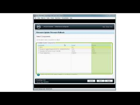Dell Lifecycle Controller - Firmware Rollback