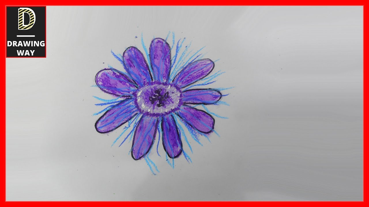 how to draw a passion flower