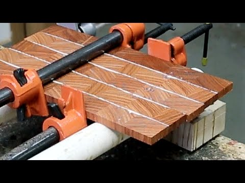 Gluing thin blanks for inlays