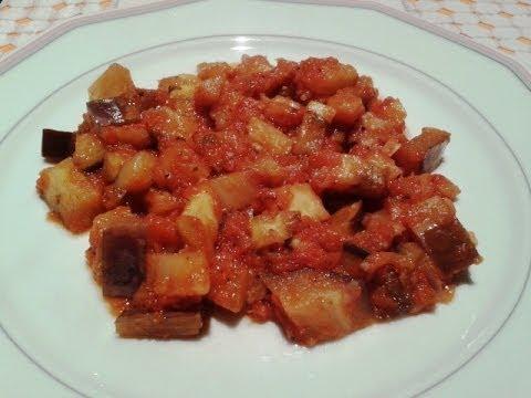 Berenjenas Con Tomate Receta De Cocina Cocina Facil Youtube