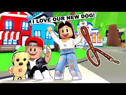 MY BOYFRIEND & I BOUGHT OUR FIRST DOG! - Roblox - Adopt Me Pets UPDATE