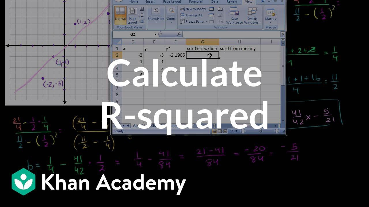 Calculating R-squared (video) | Khan Academy