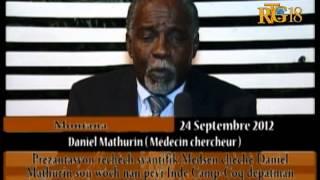 Prezantasyon rechèch syantifik Medsen chèchè Daniel Mathurin sou wòch nan peyi Inde Camp-Coq