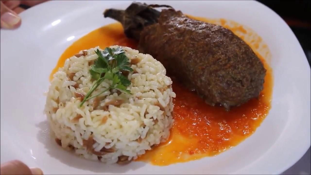 Harika bir ana yemek tarifi || Köfteli közlenmiş patlican Kebabı nefis bir lezzet