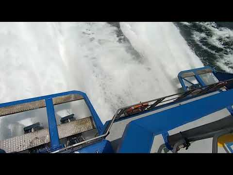 Crash Stop from 35kts of High Speed Ferry with KaMeWa Waterjets