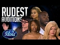 Rudest & Angriest Auditions Ever On American Idol | Idols Global