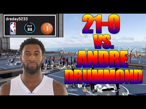 BEATING ANDRE DRUMMOND 21-0 | NBA 2K16: MYPARK