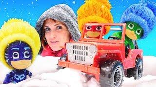 Герои в Масках все серии подряд - Ремонт машины и корм для зверей - Видео Капуки Кануки