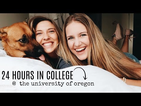 24 HOURS IN MY LIFE AT THE UNIVERSITY OF OREGON!