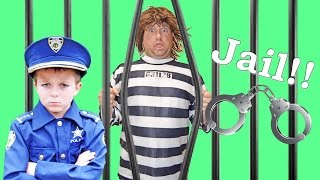 Sketchy Mechanic in the Run Away Police Car! Brother Kid Cops Chase him Down! Funny Parody Video