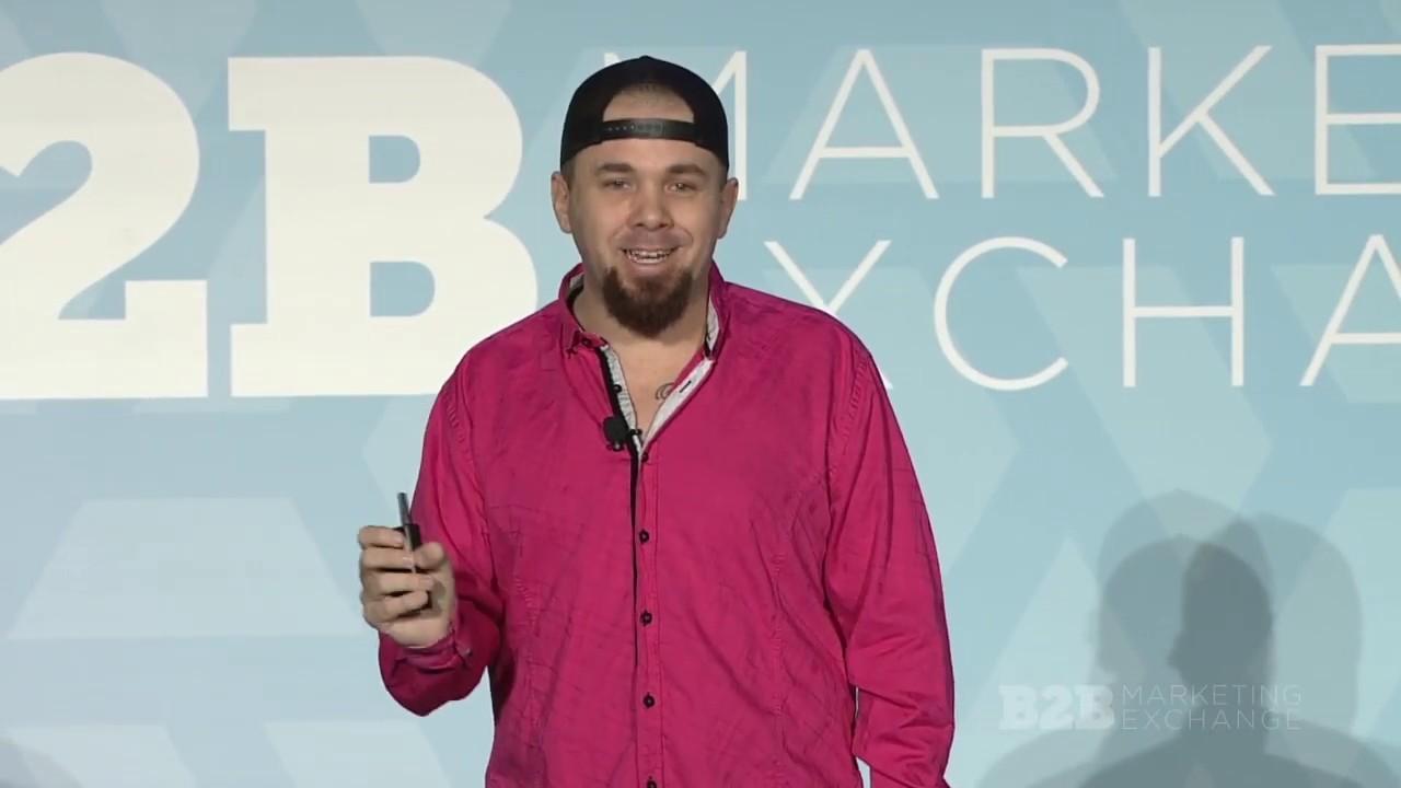 A Pager Wearing Millennialkeynote Speaker Brian Fanzo