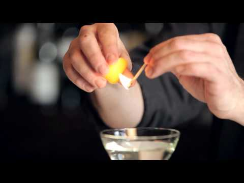 How To Flame An Orange Peel - DrinkSkool Bar Techniques
