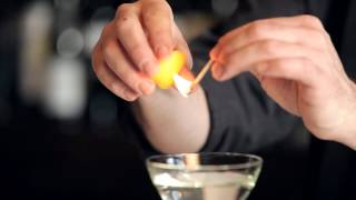 How to Flame aฑ Orange Peel - DrinkSkool Bar Techniques
