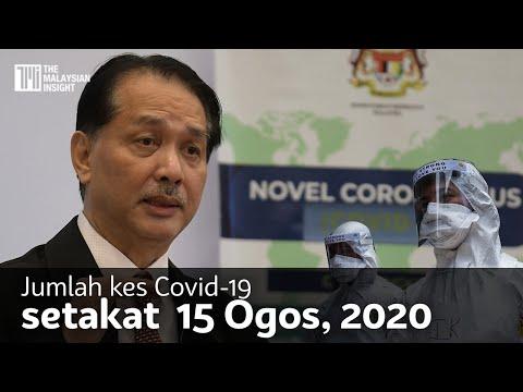 Jumlah kes Covid-19 setakat 15 Ogos 2020 | 26 kes baharu