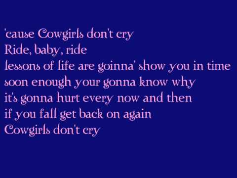 Cowgirls don't cry - Brooks & Dunn feat. Reba WITH LYRICS