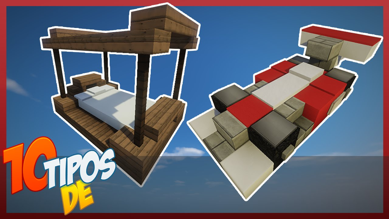 Minecraft 10 tipos de camas youtube for Cama minecraft