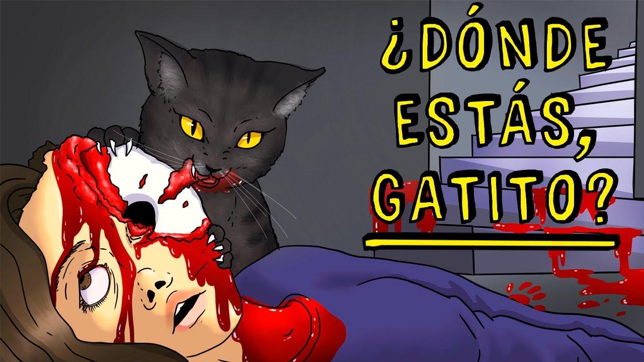 ¿Dónde estás, gatito? 😈🐱 Draw My Life Historia de Terror