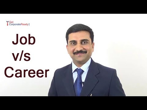 """Thumbnail for the embedded element """"Job vs Career - Think about a long time career"""""""