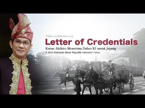 Letter of Credentials - KBRI Tokyo