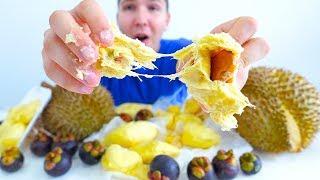 Durian  Mangosteen  MUKBANG