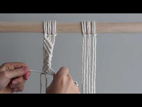 Macrame For Beginners  28 Days Of Knots! Day 17: Zig Zag Pattern