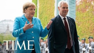 German chancellor angela merkel's body shook visibly at a public event for the third time in less than month.subscribe to ►► http://po.st/subscribetim...