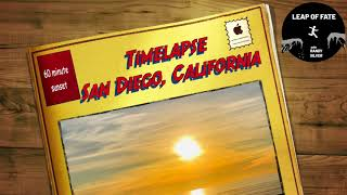 Beautiful Sunset Time-lapse in San Diego | Ambient Music to California Ocean