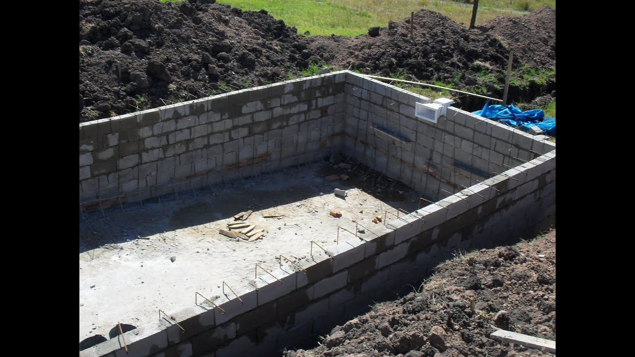 construcci n piscina de hormig n youtube On materiales para construir una alberca