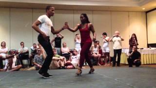 Видео: Rodolfo Montaño Castro & Fanny Contreras - Dominican Bachata Musicality Class (2)