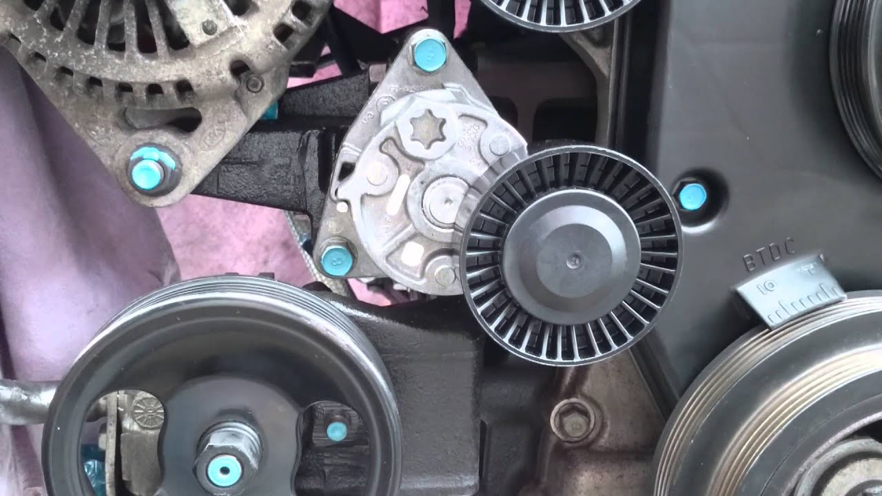 alternator belt installation kia hyundai 2 9crdi youtube 2005 hyundai santa fe 3 5 serpentine belt diagram 2005 hyundai santa fe serpentine belt diagram 2 7 [ 1280 x 720 Pixel ]