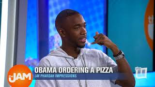 Comedian Jay Pharoah Impersonates Obama Ordering a Pizza