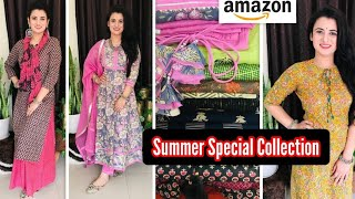 Amazon Kurta Set Haul👗Summer Special Kurti👗Amazon Wardrobe Refresh Sale👗Dailywear Kurta Palazzo Haul