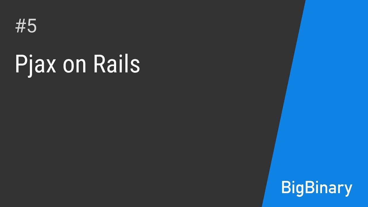 PJAX on rails