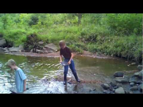 Panning for Gold in a Stream Bed