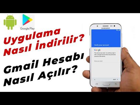 Google Play Hesabı(Gmail) Nasıl Açılır? Uygulama Nasıl İndirilir?