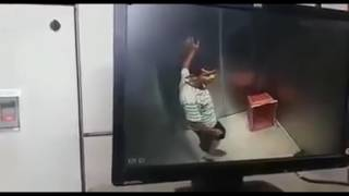 Man Molesting a Girl in Lift In india.